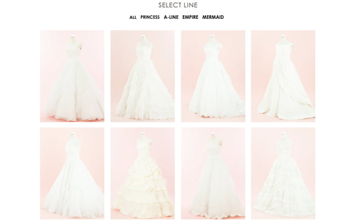 ドレスコレクション帯広店のドレスのサムネイル画像