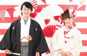 帯広の和装の結婚写真