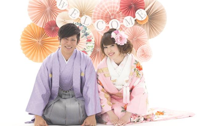 ぱれっと函館店で撮影された和装の結婚写真