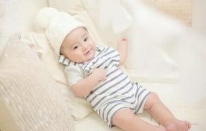 赤ちゃんの百日記念の写真