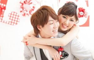 旭川市にある写真工房ぱれっとで撮影された結婚写真