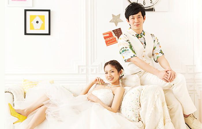 結婚写真のポージング