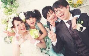 函館市で撮影された結婚写真