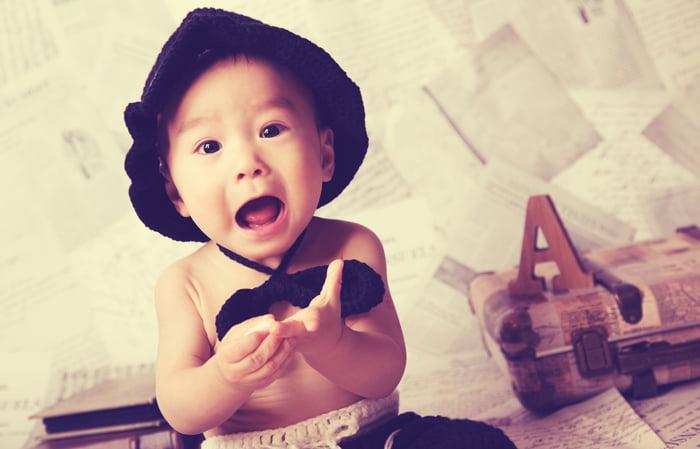 百日・一歳の赤ちゃんの写真