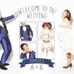 札幌の結婚式のウェルカムボード