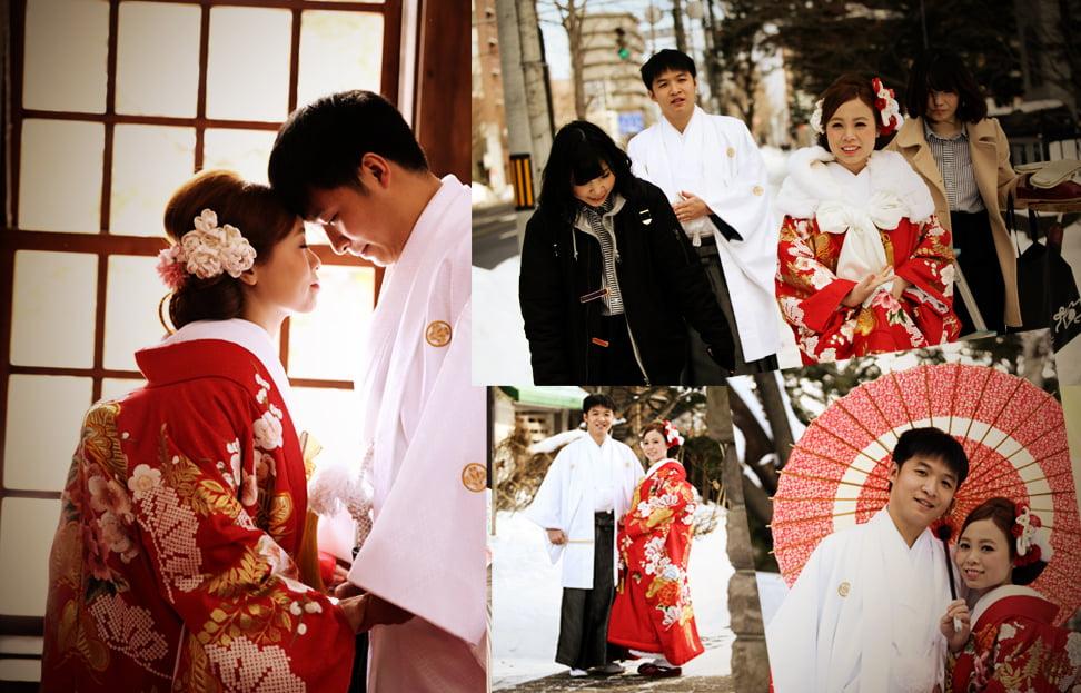 札幌市旧永山邸の冬のロケーション写真