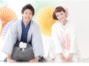 札幌の和装の結婚写真