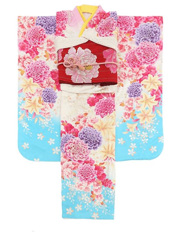 帯広 振袖レンタルピンク&水色
