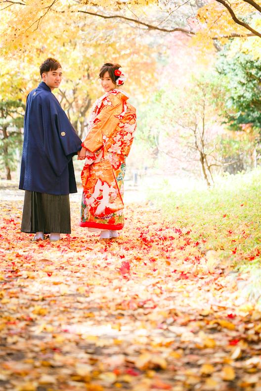 งานแต่งงานในฤดูใบไม้ร่วงในฮอกไกโด