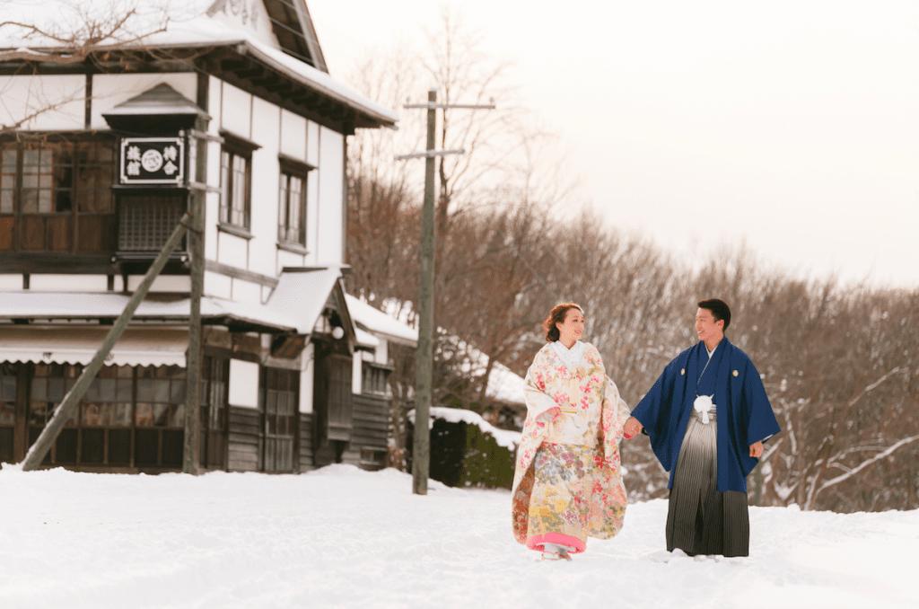在北海道舉行婚禮