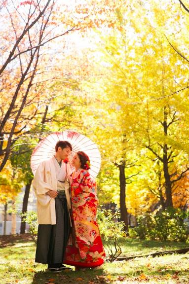 在北海道的婚禮照片