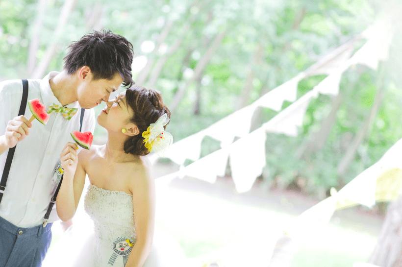 งานแต่งงานช่วงฤดูร้อนในฮอกไกโด