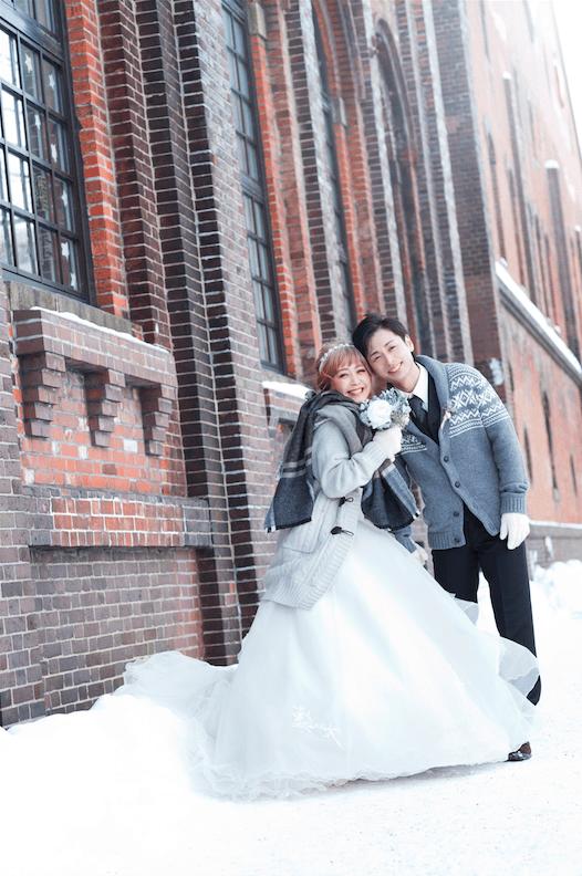 winter wedding in hokkaido