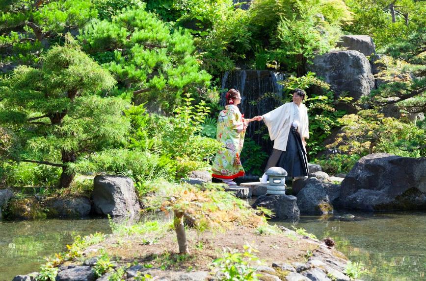 夏季婚禮在北海道舉行