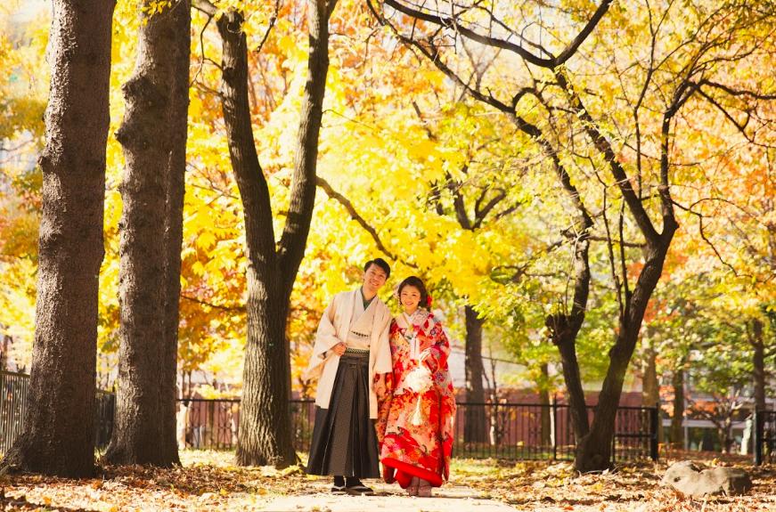 ảnh cưới ở hokkaido