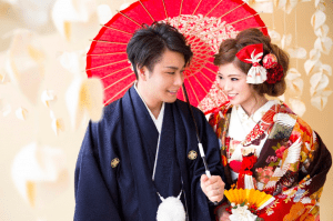 Japanese wedding photo