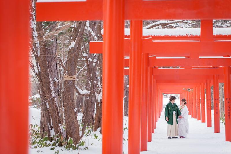 札幌 冬ロケ 伏見稲荷