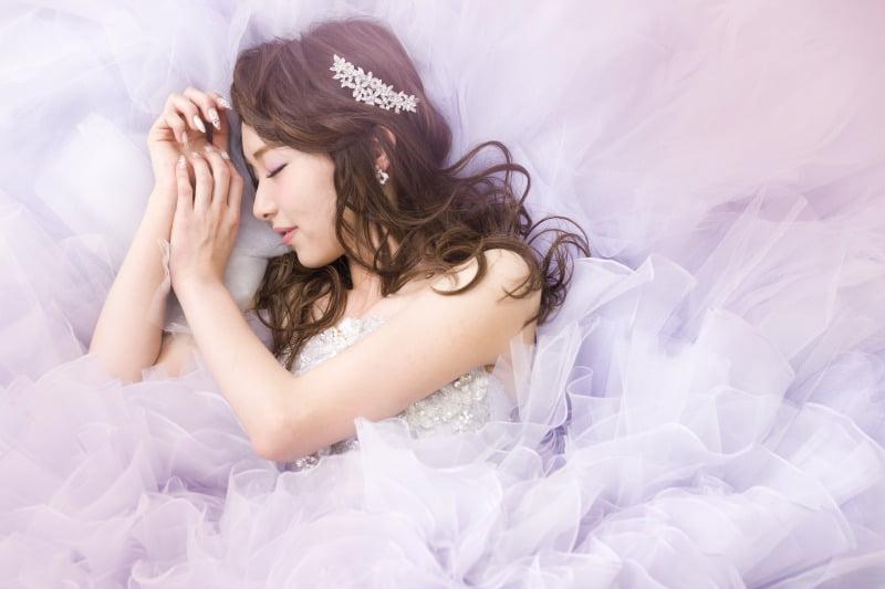 薄紫 ドレス