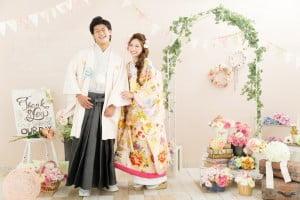 pink flower theme wedding