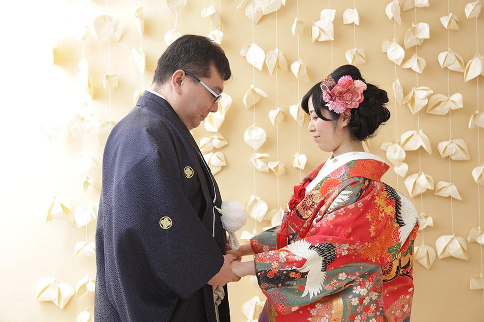 帯広店で結婚写真を撮影したセンパイカップル
