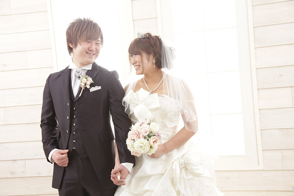 ぱれっと帯広店で結婚写真を撮影したセンパイカップル