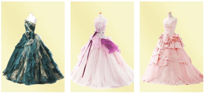 ファクトリー エレガント カラードレス