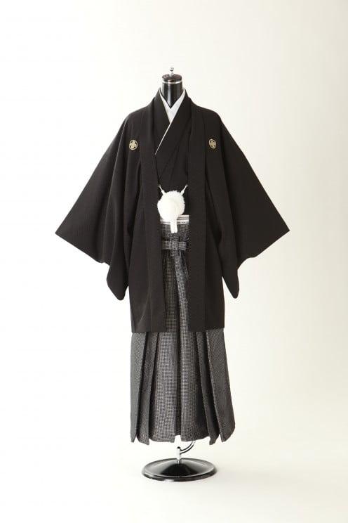 ファクトリー店 紋付袴 黒
