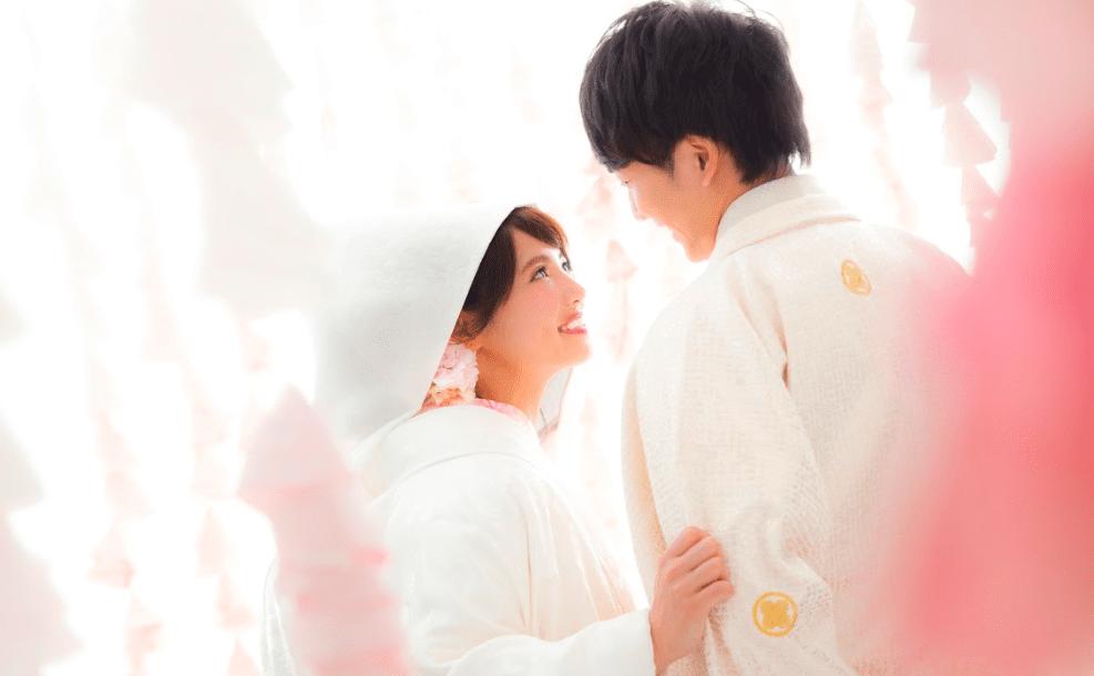 和装白無垢結婚写真