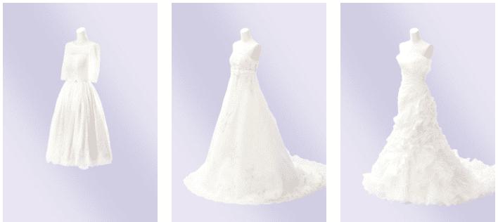 ファクトリー 白ドレス スタイリッシュ