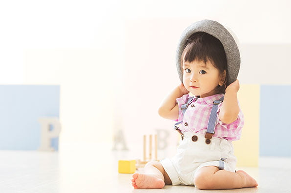 私服チェック 帽子 girl