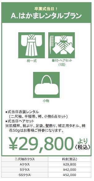 卒業 袴レンタル 料金