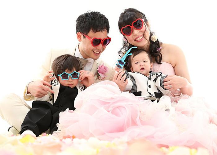 結婚写真家族