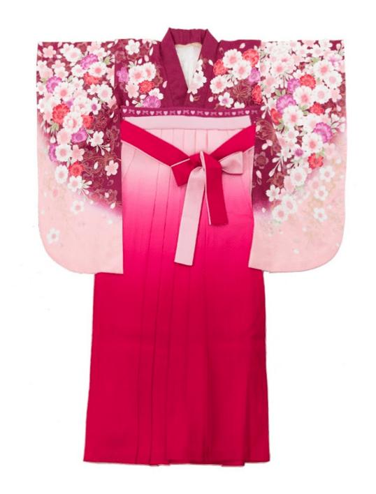 袴 パープル ピンク
