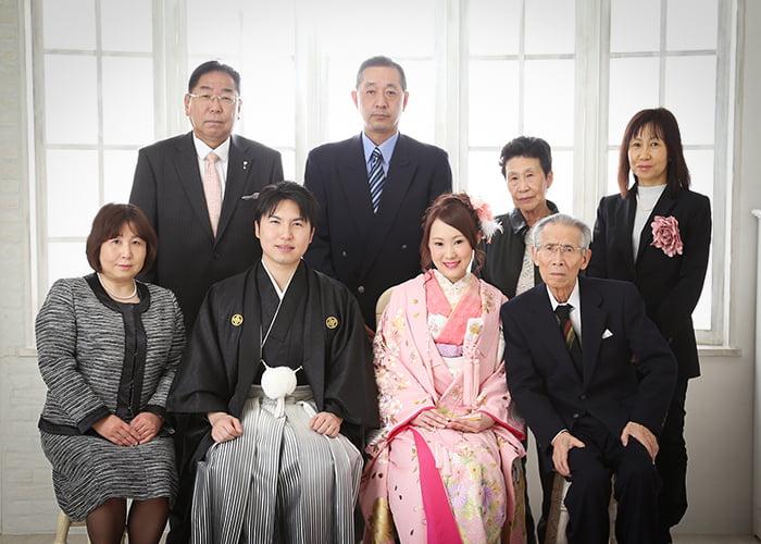 結婚式家族写真