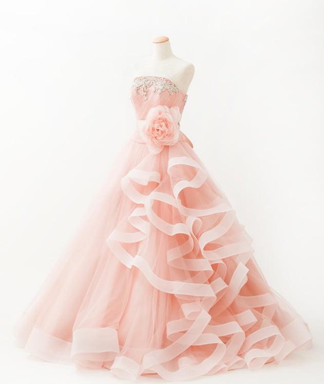 ダスティピンク カラードレス