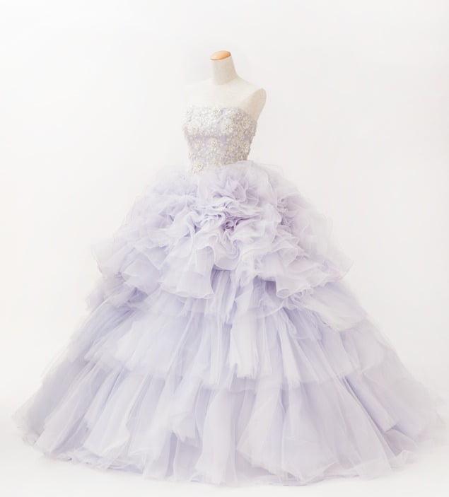 ラベンダー カラードレス 紫