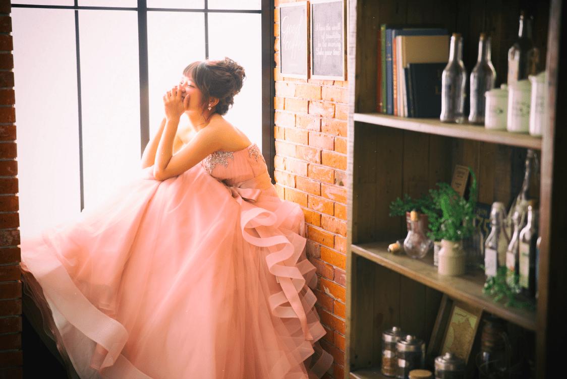 cafe pink dress