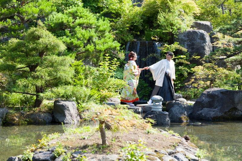 天神山 和装 結婚写真