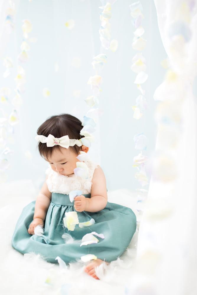 白水色ドレス
