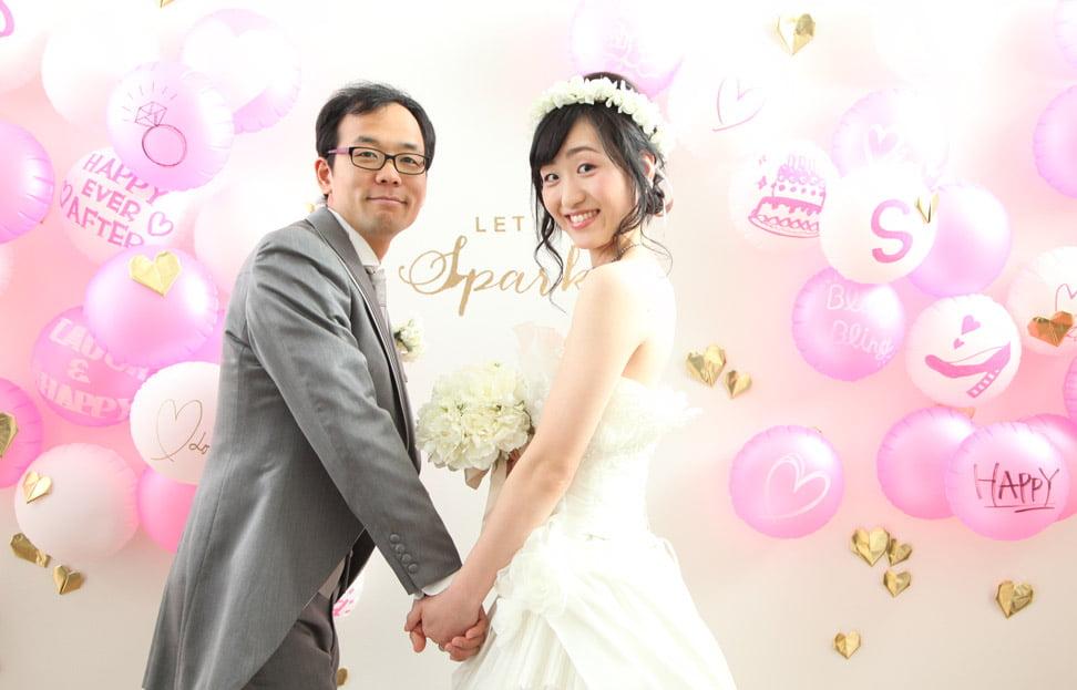ぱれっとサッポロファクトリー店で結婚写真を撮影したセンパイカップルのレビューもらい