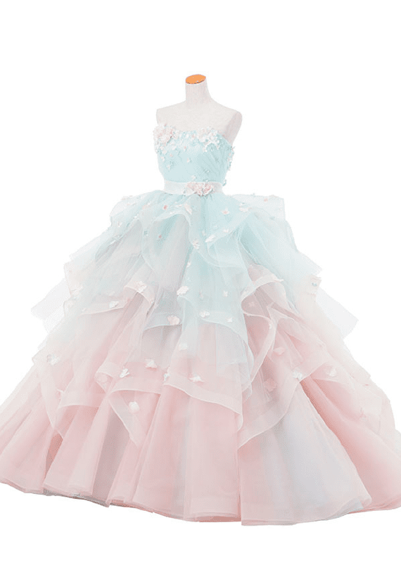 new dress pink blue