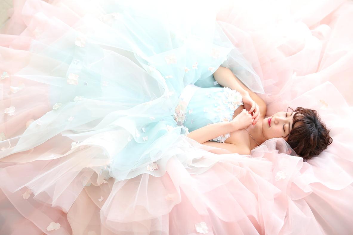 カラードレス ピンク