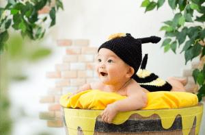 【帯広店】赤ちゃん×なりきり衣装で大変身!なりきりベビー第2弾『ハチさん』が新登場!