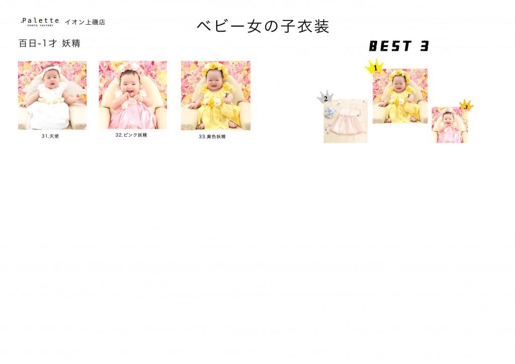 03.ベビー衣装女の子見本ドレス 2