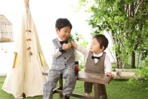 七五三記念と1歳記念撮影でお越しの「しきくん&にこくん」のお写真紹介!