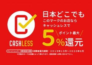 【お得情報】函館北斗店はキャッシュレス消費者還元事業対象店舗です!