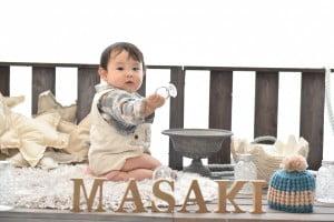「Kirakira」スタジオ☆1歳記念でお越しの「まさきくん」のお写真ご紹介!