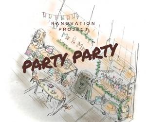 """【帯広店】ブライダルスタジオStudio Renovation Projectスタート!""""party party""""【新背景作成】"""