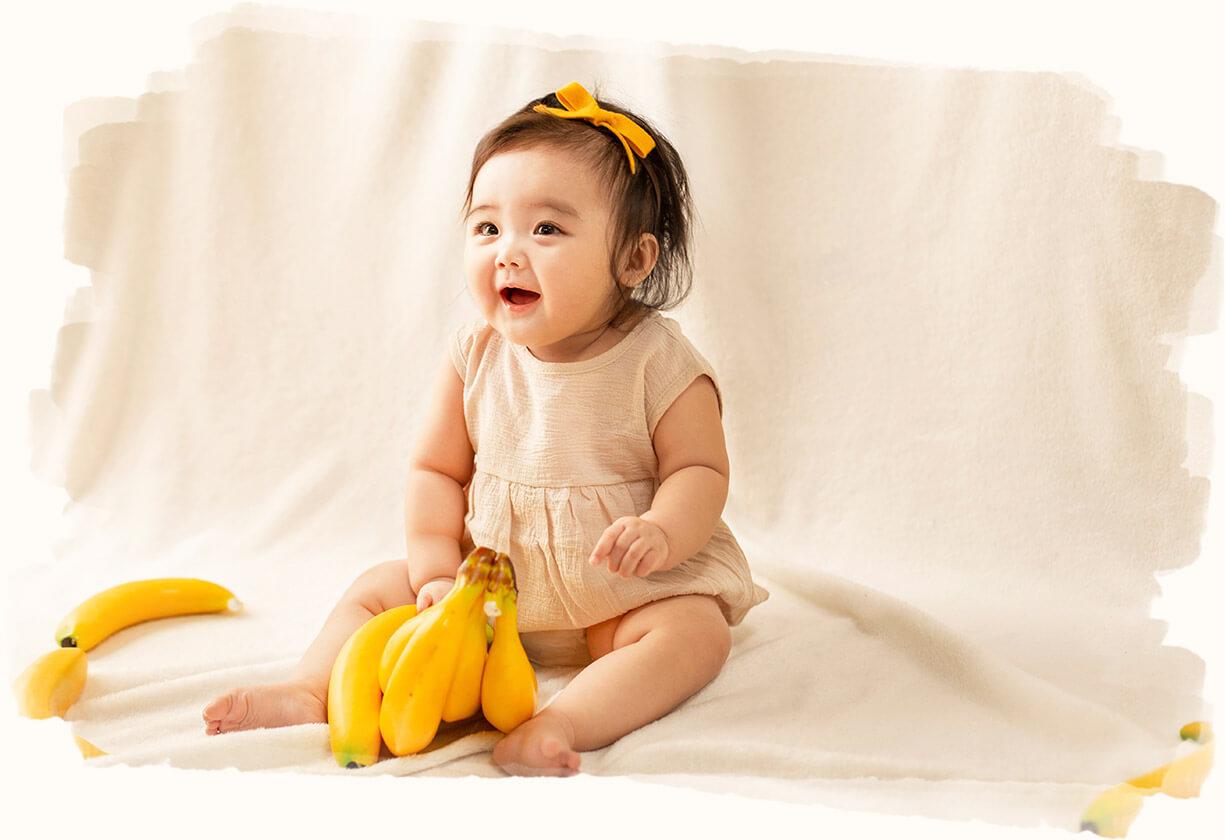 バナナ×赤ちゃん