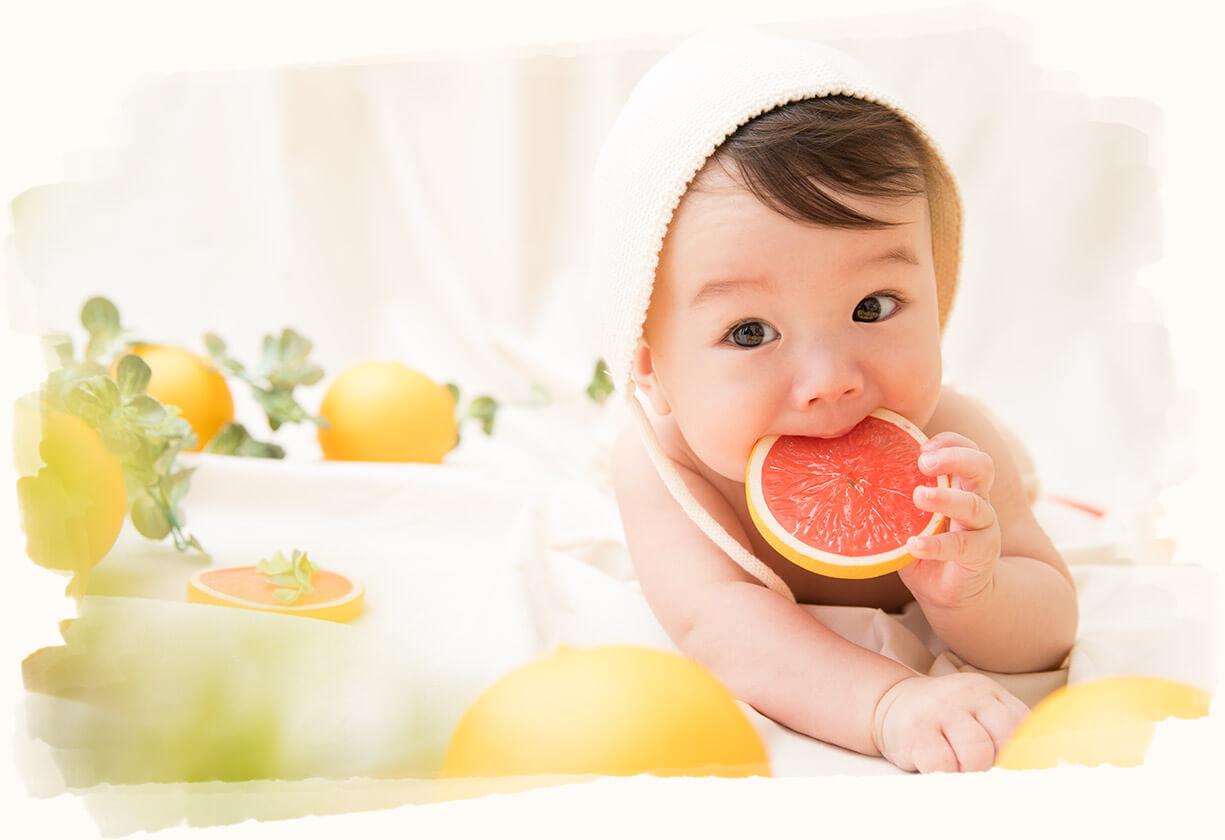 グレープフルーツ×赤ちゃん